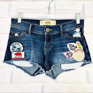 Hollister Low Rise Short Shorts Size 0